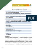 DCA-741 Métodos espectroscópicos para análisis de alimentos