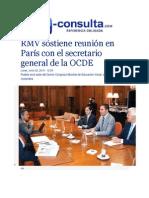 22-06-2015 E-consulta.com - RMV Sostiene Reunión en París Con El Secretario General de La OCDE
