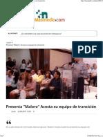 22-06-15 Presenta Maloro Acosta Su Equipo
