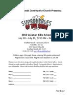 VBS Registration Form - 2015