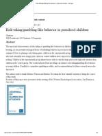 Risk-taking_gambling-like Behavior in Preschool Children - Springer Abstract