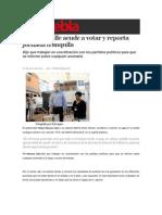 07-06-2015 Sexenio Puebla - Moreno Valle Acude a Votar y Reporta Jornada Tranquila
