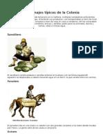 Personajes Típicos de La Colonia