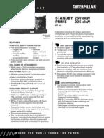 Grupos Electronicos Diesel Cat n3306 225ekw Prime Ficha Tecnica Ferreiros