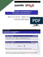 Expressoes Matematicas I Handout Látex