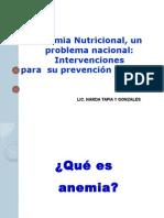 Estrategias de Intervencion Anemia