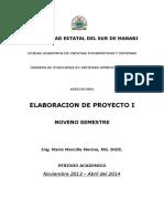 Elaboracion de Proyecto 1 Contenido 2010