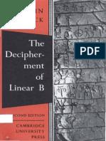 The Decipherment of Linera B - John Chadwick