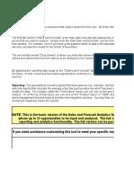 Sales Forecast Analytics Spreadsheet