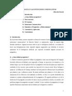 La Pragmática y Las IntenPragmática e Intenciones Comunicativasciones Comunicativas