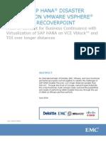 VIRTUAL SAP HANA DR on VMWare VSphere using EMC Recoverypoint.pdfVIRTUAL SAP HANA DR on VMWare VSphere Using EMC Recoverypoint