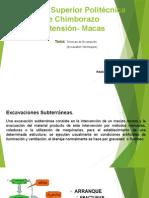 TÉCNICAS DE EXCAVACION