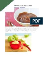 Resepi Puri Buah Pear,Epal,Kurma,Blueberry