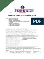 Sílabo de Técnicas de Comunicación