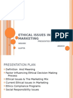 Ethical Issues in marketing by akash and ravi