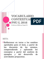 Vocabulario Contextual en Psu-l 2016