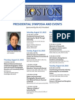 #ACSBoston Presidential Symposia and Recommended Events