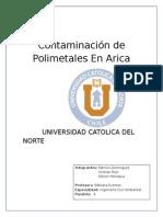 Contaminación de Polimetales en Arica