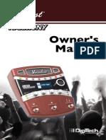 Vocalist Live Harmony Manual 5038827-A Original