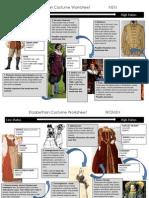 Elizabethan Costume Worksheet