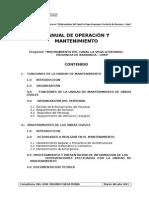 Manual de Operacion y Mantenimiento La Vega
