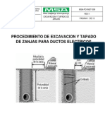 Msa-po-Inst-CA009 Procedimiento de Excavacion y Tapado de Zanjas Para Ductos Electricos