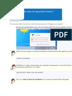 Configuración de Copia de Seguridad Window 7