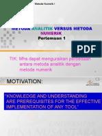 Metode Analitik dan Metode Numerik
