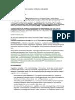 Pathogenesis of Vegetation Formation in Infective Endocarditis
