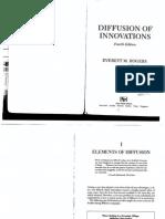 Everett m Rogers Diffusion of Innovations Quarta Edição