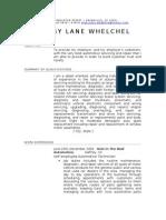 BOBBY LANE WHELCHEL Resume for Automotive