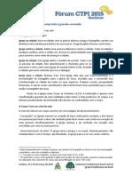 Fórum CTPI - Goiânia 2015