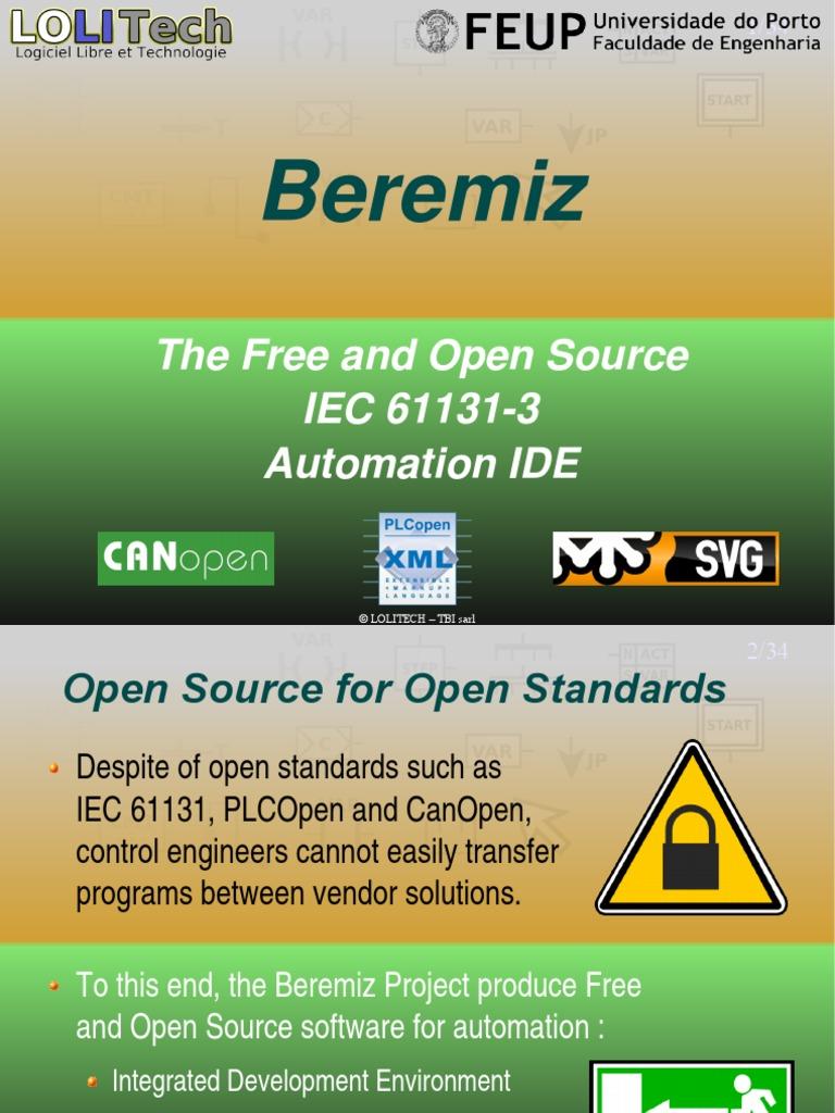 Simulador Open IEC 611-31 -Beremiz | Integrated Development
