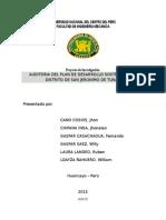Auditoria Tecnologica en La Municipalidad Distrital de San Jeronimo de Tunan