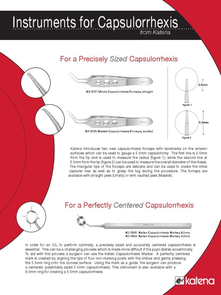 Instrumentos para Capsulorrexis | Cornea | Ophthalmology