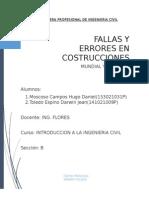 Errores en Construcciones Fails