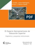 El espacio iberoamericano de educación superior