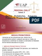 2. MEDIOS PROBATORIOS, ACTUACIÓN PROBATORIA, PRUEBA ANTICIPADA. (1).pptx
