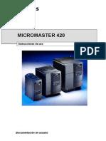 Siemens Micromaster 420 Esp