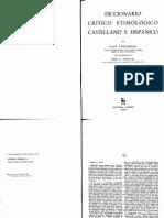 Diccionario Crítico Etimológico Castellano - Corominas - G-MA