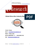 Global Glove Box Industry Report 2015