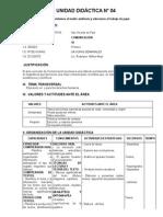 UNIDAD DIDÁCTICA N0 4 primero secundaria 2015.docx