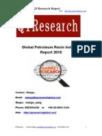 Global Petroleum Resin Industry Report 2015