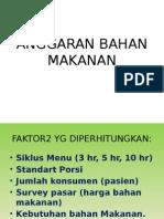 1c. Anggarann Bahan Makanan