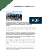 Instalación de Paneles Solares en Comunidad de Alto Huarca