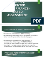 Assessment of Learning 2 / Chapter 2 Process Oriented Performance Based Assessment