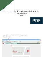BASIC Config & Crosconect E-line & E-LAN Service