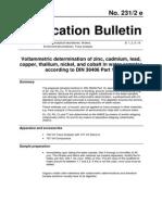Determinación Volta Plomo, Cadmio, Cu, Zn