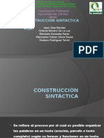 CONSTRUCCIÓN SINTÁCTICA