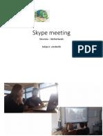 3. Skype Meeting SL-NL